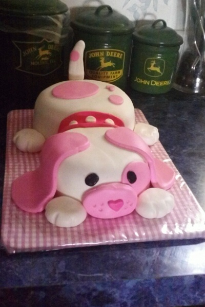 Puppy first birthday By abra526 on CakeCentral.com