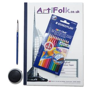 Artifolk Watercolour Pencils and A4 Pad Set (1032)