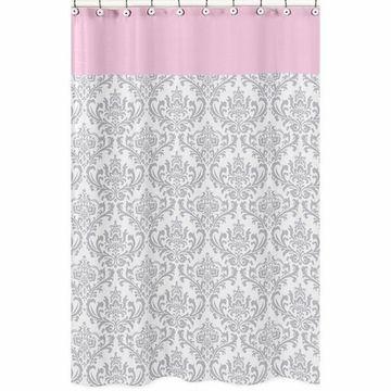 Sweet JoJo Designs Elizabeth Grey & Pink Shower Curtain