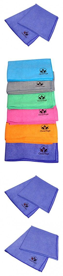 "Clever Yoga Anti Slip Mat Towel Made With The Best, Durable Microfiber - Comes With Our Special ""Namaste"" Warranty (purple(72""x26.6"") MatTowel)"