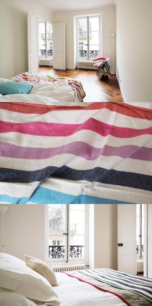 rainbow blanket via SF Girl by Bay