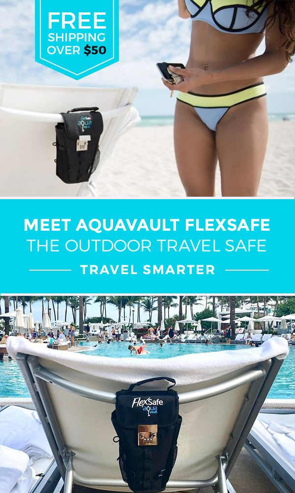 Looking for an easy and affordable way to keep your things safe when you're on the go? The FlexSafe is a portable safe that is packable, flexible and water-resistant. Perfect for the beach, pool, vacation, golf, waterparks, dorm rooms, camping, cycling and more! Free shipping on all orders over $50.