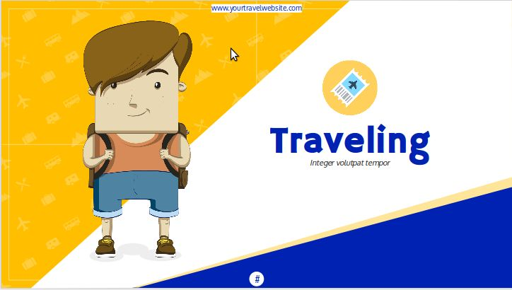 """""""Traveling"""" is a free presentation template focused on creating content to advertise travel packages or create explanatory sheets to supplement the content of your Travel Agency website. #google #free #presentation #templates"""