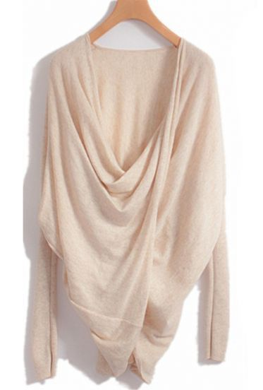 lovely drape on this crossover sweater. would look amazing with jeans