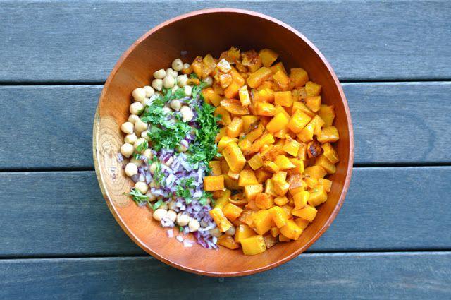 Warm butternut squash & chickpea salad | Salad | Pinterest