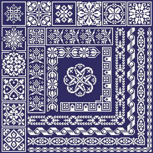filet crochet patterns free on pinterest | Filet Crochet Patterns Filet Crochet Patterns... I think these would look great for biscornu, too!