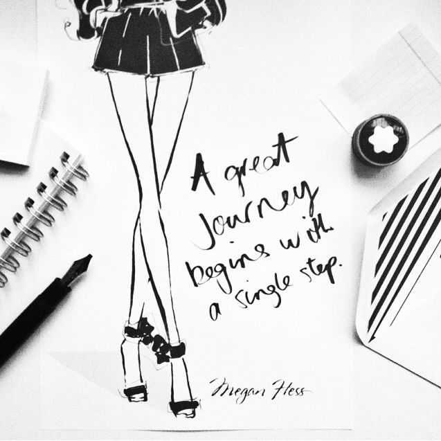A Great Journey Begins with a Single Step #megan_hess #quotes_about_life