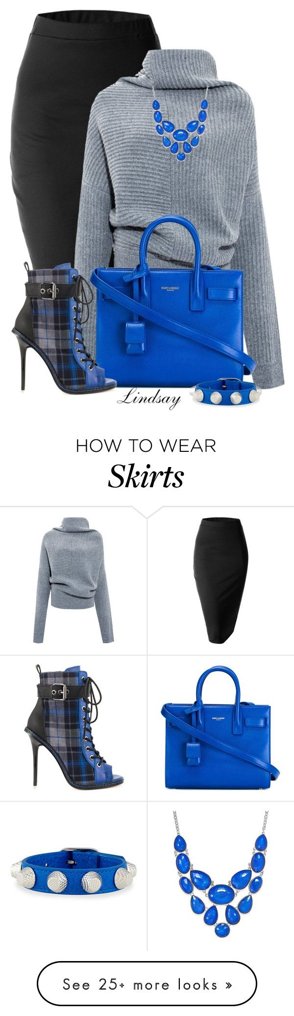 """Saint Laurent nano 'Sac de Jour' tote"" by lindsayd78 on Polyvore featuring Doublju, Acne Studios, Yves Saint Laurent, GX, Style & Co. and Balenciaga"