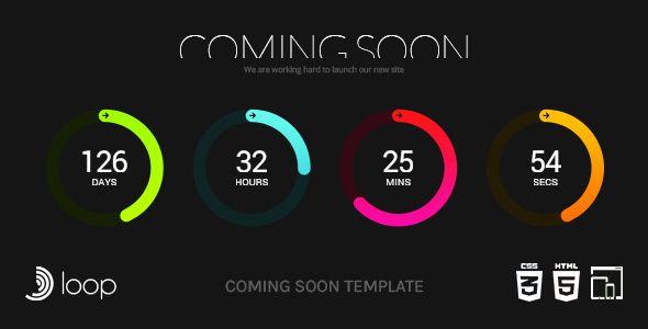 loop animated coming soon countdown template by creative era loop