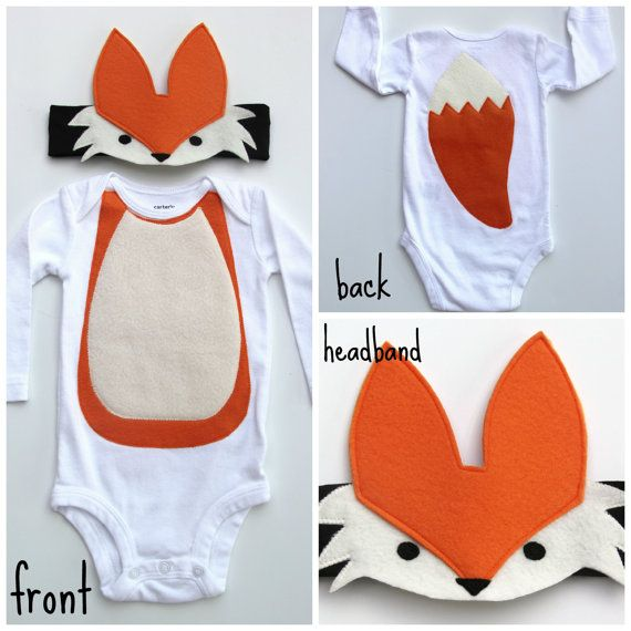 Fox Baby Costume Woodland Baby Costume Forest by mylittlemookie