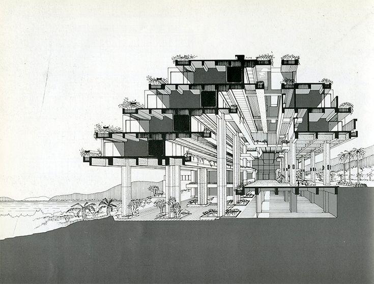 Kuni-ken. Japan Architect 53 Jan 1978: 68 #perspective