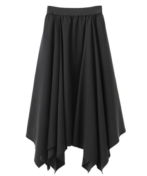 The Virgnia(ザ ヴァージニア)の「ランダムフレアスカート(スカート)」|ブラック