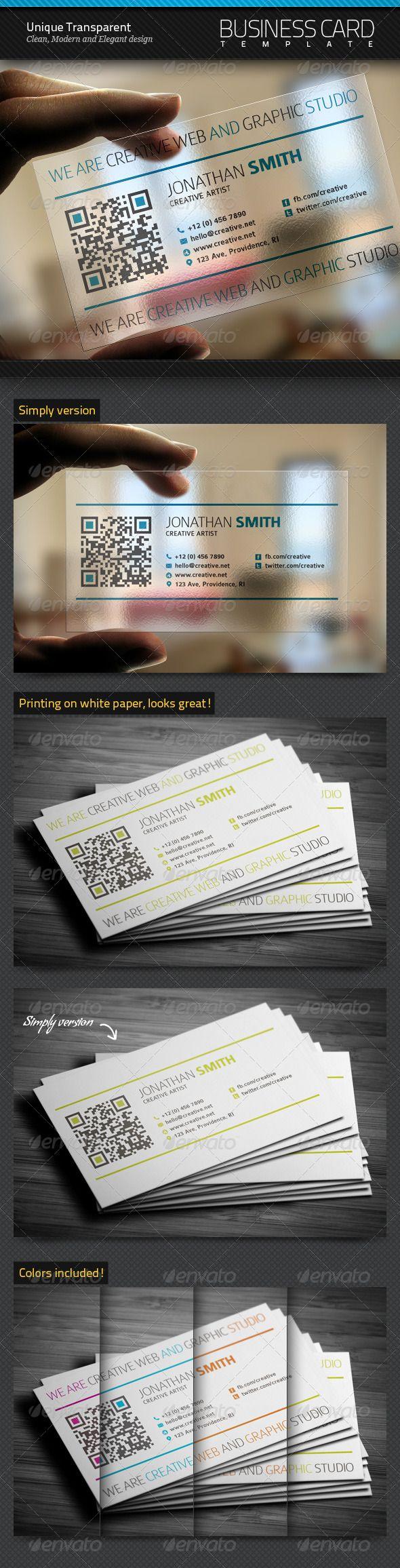 unique transparent business card