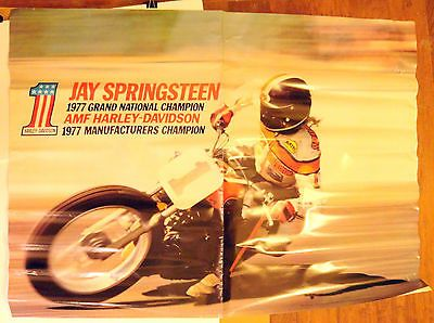 Jay Springsteen 1977 AMA Grand National Champion. AMF Harley-Davidson Poster