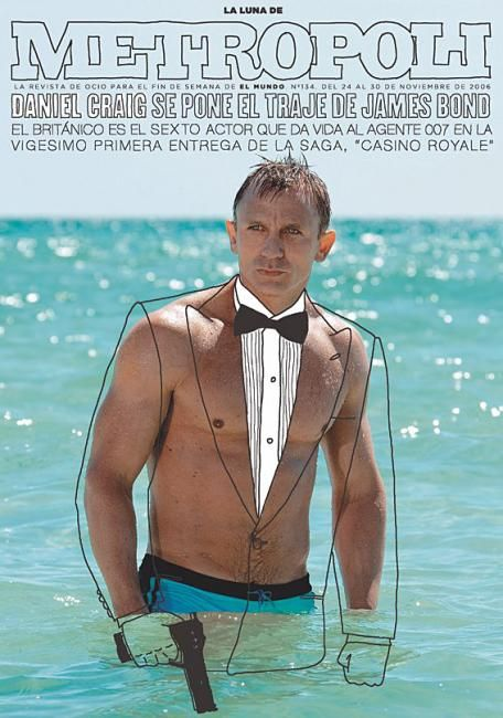 Metropoli magazine #jamesbond #danielcraig - so simple. Art Art director Artwork Visual Graphic Mixer Composition Communication Typographic Work Digital