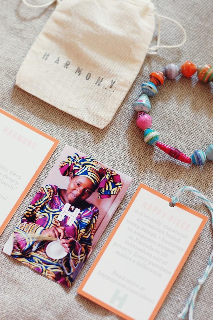 Happy Piece | Empowerment bracelet packaging