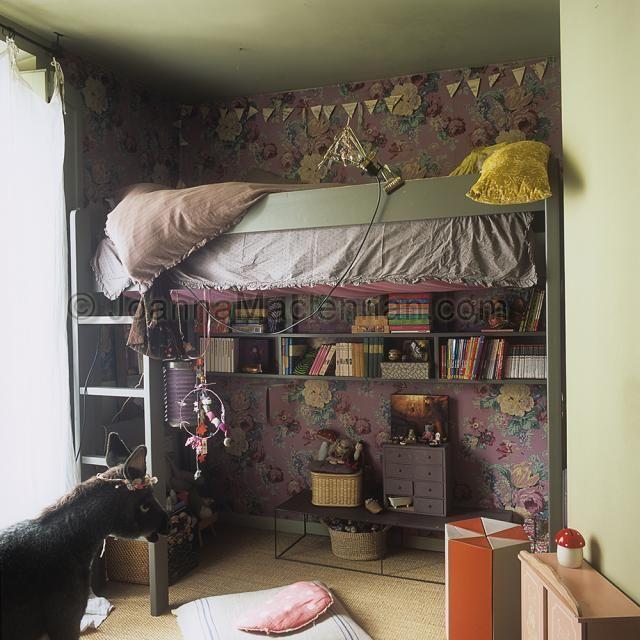 Dormitorios infantiles eclécticos en París