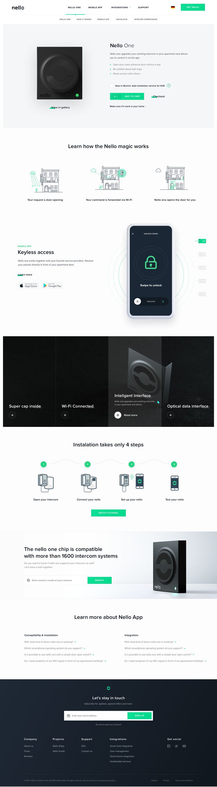 Nello one product page