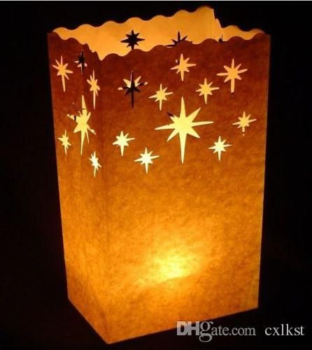 Stars Candle Paper Bag Luminary Lantern Party Light FLAME RETARDANT Good Quality Brand New Online with $13.07/Piece on Cxlkst's Store | DHgate.com