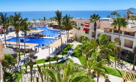All-inclusive 4-star resort in San José del Cabo features direct beach access, two pools, two restaurants, and six bars