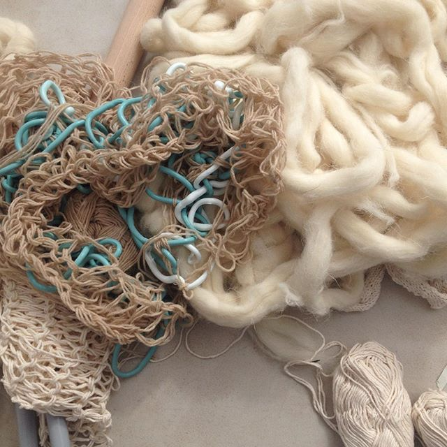 #insite16 #extreme #knitting by #graduate #maker Amy Wallace working with wools, plastics and silicone #Birmingham #festival