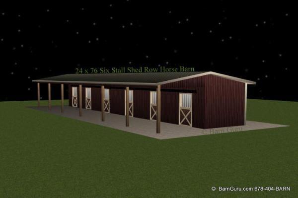 Barn plans shed row barn breeze way barn design for 6 stall barn plans