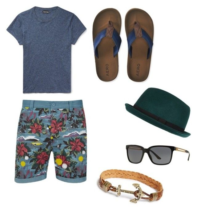 """""""Beatch outfit"""" by mihai-cosmin on Polyvore featuring WeSC, Tom Ford, Aéropostale, River Island, Versace, Kiel James Patrick, mens, men, men's wear and mens wear"""