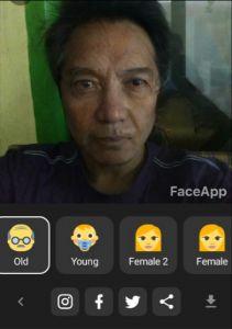 Face App Aplikasi Pembuat Sketsa Wajah di Masa Tua