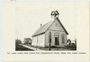 """This is the church that""""Pa"""" built. First Congregational Church, De Smet."""