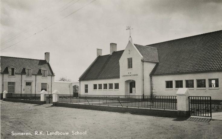 Someren, Molenstraat R.K. Lagere Landbouwschool, Molenstraat 1950
