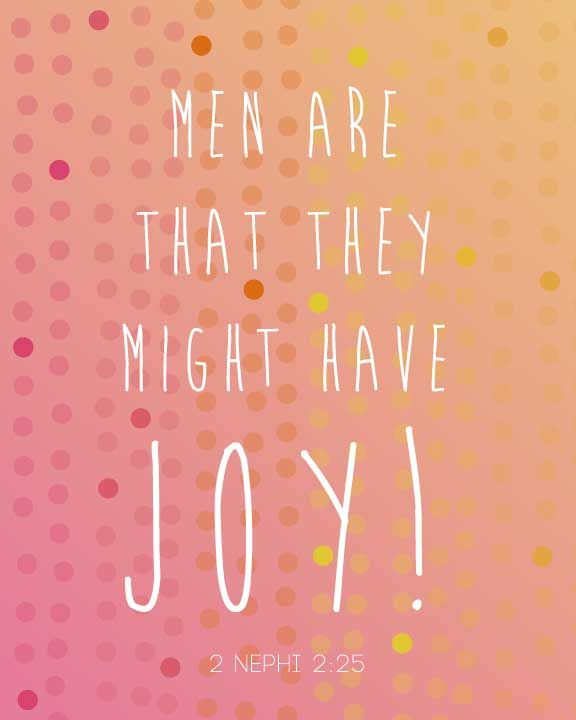 Men Are That They Might Have Joy FREE Book of Mormon Printable