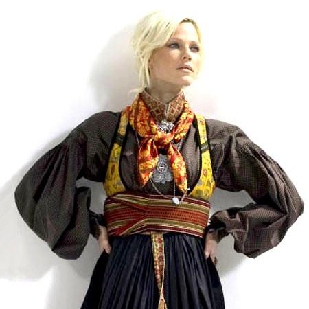 Modern style of Norwegian Telemark Bunad