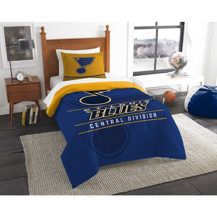 The Northwest Company NHL St. Louis s Draft and Yellow 2-piece Comforter Set