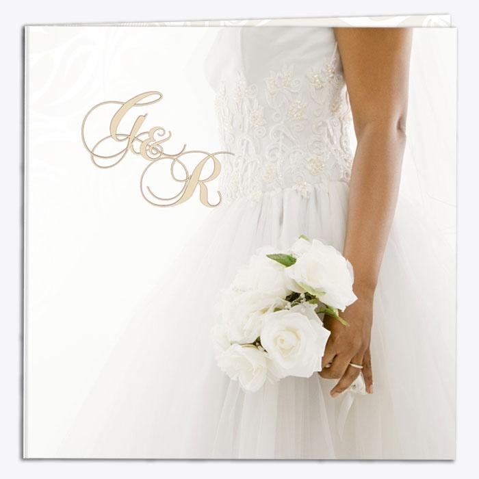 """Partecipazione di matrimonio """"Rose Bianche"""" - esterno"""