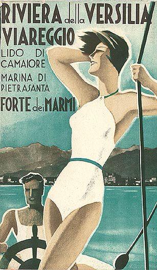 Viareggio Forte Dei Marmi - vintage travel poster