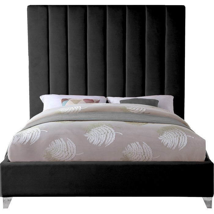 Alaysia Upholstered Platform Bed In 2020 Upholstered Platform Bed Black Upholstered Bed Full Size Upholstered Bed