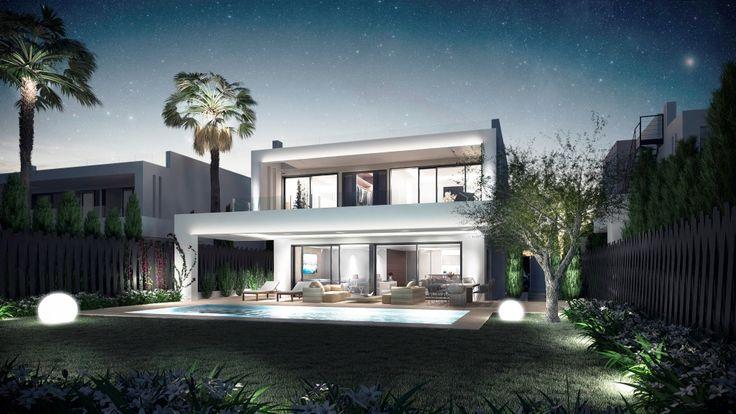 7 Neubau Villen zum Kaufen in Altos de Puente Romano, Marbella, Goldene Meile, Costa del Sol