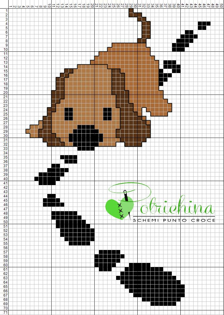 cross stitch dog - schema punto croce cane