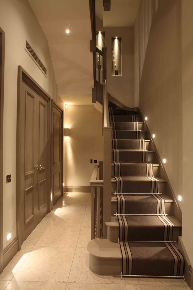 Beautiful Basement Stair Lighting