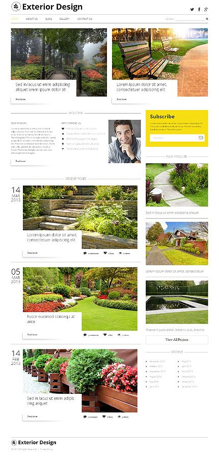 #Wordpress #ExteriorDesign theme. Reg. $75. Now 45% off 'til Dec. 31, 2013. #ResponsiveDesign