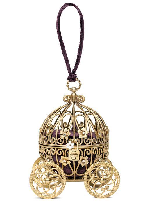 Dolce & Gabbana  Minaudière Carrozza en métal, velours et cristaux Swarovski