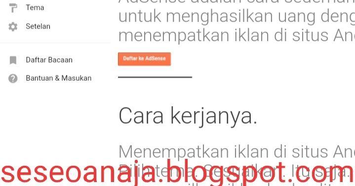 Cara Daftar Adsense Untuk Blog Terbaru 2020 Blog Daftar Bacaan Membaca