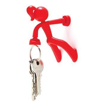 Key Petite  elle peut, elle aussi, tenir jusqu'à 20 clés... Super puissante, elle s'accroche à toute surface magnétique avec un bras tandis que l'autre portera vos clés. Elle peut tenir jusqu'à 20 clés, ou même tout objet de bureau métallique.   Accrochez-la au dos de la porte d'entrée pour toujours avoir les clés à porté de main !