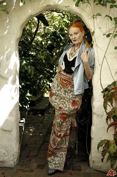 Iconic designer Vivienne Westwood.