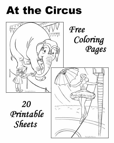 circus theme coloring pages - photo#27
