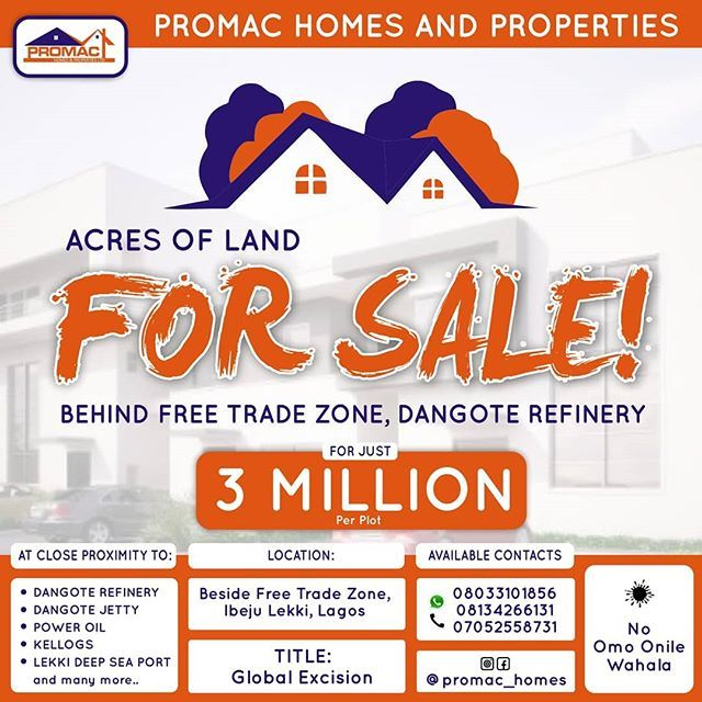 Pin By Kolex Properties On Land For Sale At Lekki Free Trade Zone