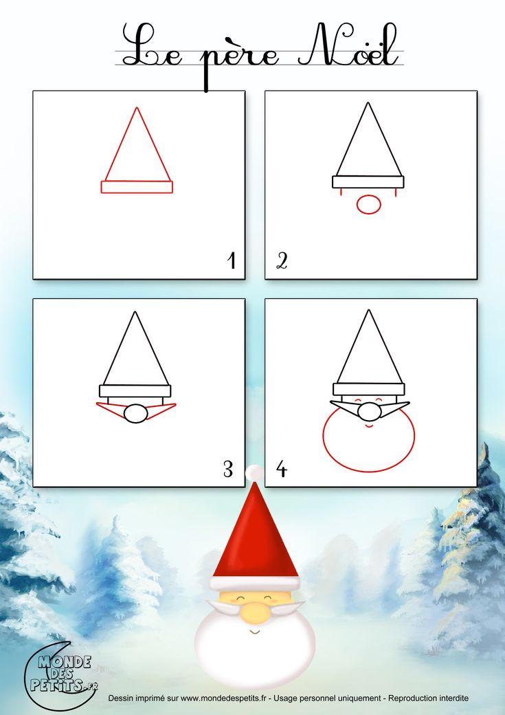 Dessin1_Comment dessiner le visage du Père Noël facilement ?