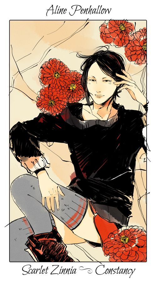 Aline Penhallow - Scarlet Zinnia (Constancy): Cassandra Jean: Shadowhunter Flowers Series: *Character belongs to Author Cassandra Clare and her Mortal Instrument series