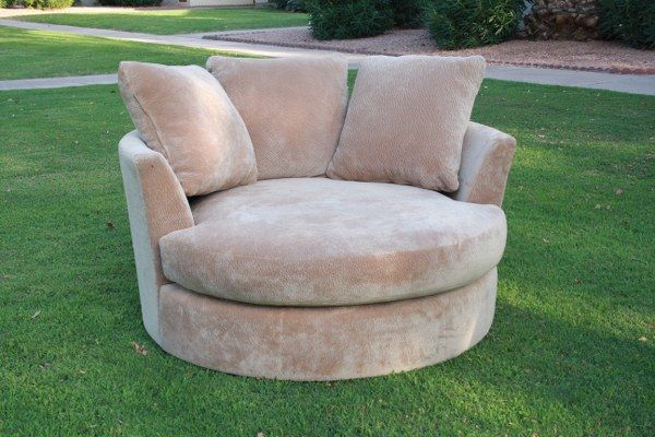 """48"""" Round Cuddler Chair, Extra Soft Cuddler Cushion"""
