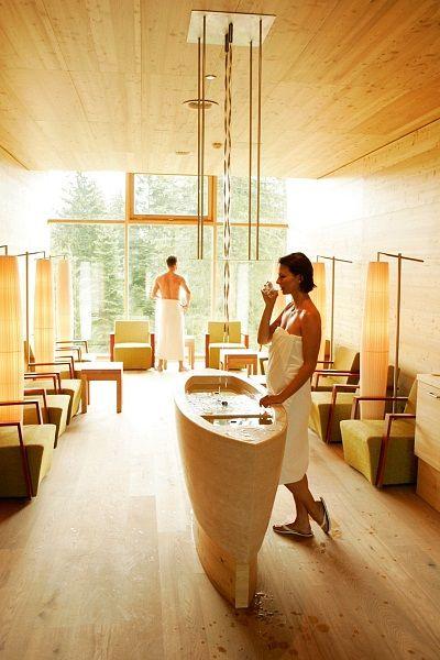 Kranzbach Wellness & Spa - Trinkbrunnen (via @kranzbach) - www.daskranzbach.de